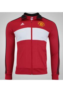 Jaqueta Manchester United 3S Adidas - Masculina - Vermelho