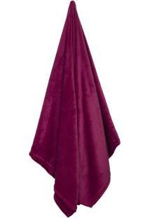 Cobertor Flannel Loft De Casal- Vinho- 180X220Cmcamesa