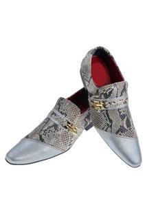 Sapato Masculino Italiano Social Executivo Em Couro Art Sapatos Cobra Branco