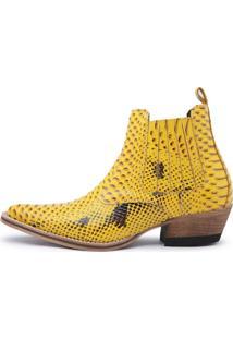 Bota Country Gasparini Texana Amarelo