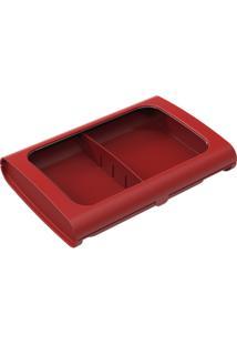 Porta-Frios Sem Pinça Casual 24 X 17 X 5 Cm Vermelho Bold Coza