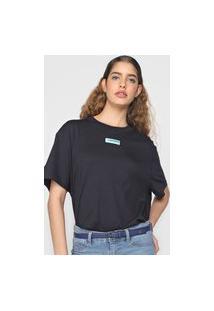 Camiseta Lacoste L!Ve Logo Azul-Marinho