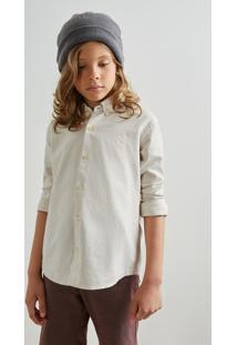 Camisa Mini Oxford Ml Reserva Mini Bege