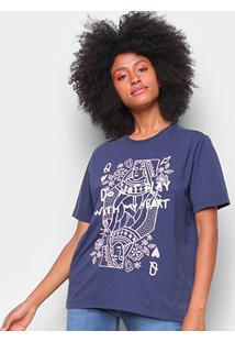 Camiseta T-Shirt Cantão Classic Heart Feminina - Feminino
