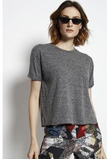 Camiseta Com Bolso- Cinza Escuro- Tritontriton