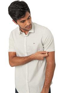 Camisa Aramis Slim Quadriculada Branca/Amarela