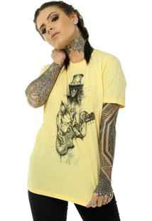 Camiseta Bossa Brasil Slash Amarelo - Amarelo - Feminino - Algodã£O - Dafiti