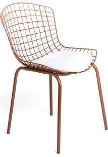 Cadeira Clint Aço Carbono Pintura Epoxi Design Contemporâneo Casa A Móveis