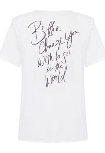 Camiseta Feminina Botonê Fita - Off White