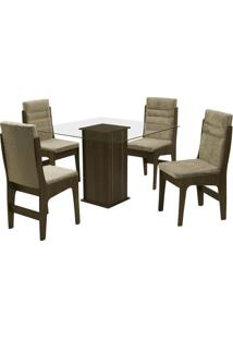 Conjunto De Mesa & Cadeiras Amsterdam Para 4 Lugares- Cadobuê