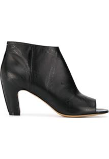 Maison Margiela Open-Toe Ankle Boots - Preto