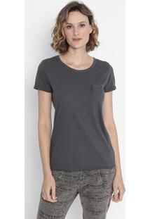Camiseta Com Bolso - Cinza Escurocavalera