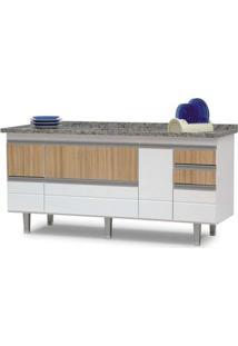 Armário Para Cozinha Fiesta 1,8 Metro Branco Com Preto Bonatto