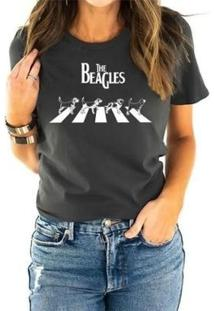 T-Shirt The Beagles Buddies Feminina - Feminino-Chumbo