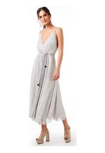 Vestido Est Pontilhada Cachecouer Midi Est Pontilhado Branco