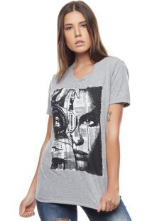 Camiseta Bossa Brasil Photo Face Mescla - Kanui