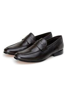 Sapato Couro Bastianini Social Granada Marrom Escuro