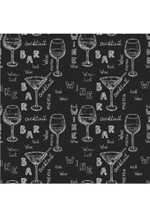 Papel De Parede Adesivo Wine And Cocktail (0,58M X 2,50M)