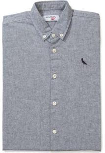 Camisa Mini Pf Mc Oxford Color Reserva Mini Preto