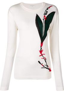 Sonia Rykiel Suéter Com Estampa Floral - Branco