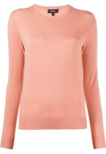 Theory Crew Neck Pullover - Rosa