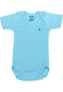 Body Bebê Pimpolho Liso Masculino - Masculino-Azul