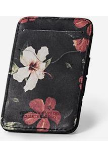 Carteira Mágica Floral 300050-Preto-Único