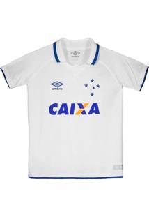 Camisa Cruzeiro Oficial 2 2017 Juvenil Umbro Branca
