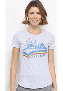 Camiseta Hapuna Baby Look Taxas Baby Feminina - Feminino-Mescla