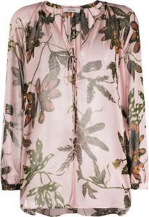 Dorothee Schumacher Blusa Com Estampa Floral E Amarração - Rosa