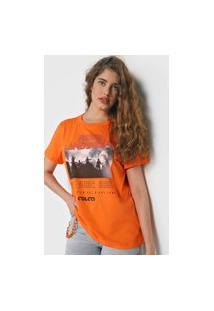 Camiseta Colcci Rock Landscape Laranja