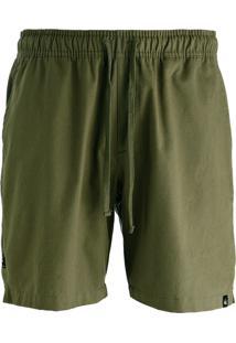 Bermuda Sarja Hoshwear Verde Militar - Verde Militar - Masculino - Algodã£O - Dafiti
