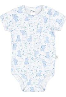 Body Rotativo Bebê Menino Ribanas - Masculino-Branco