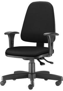Cadeira Sky Presidente Com Bracos Curvados Assento Crepe Base Metalica Preta - 54801 - Sun House