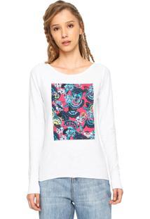 Camiseta Roxy Tropical Spot Branca - Branco - Feminino - Dafiti