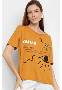 Camiseta Cantão Olhar Feminina - Feminino
