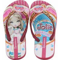 2871e5049c Chinelo Infantil Ipanema Jolie Amor Feminino - Feminino-Rosa+Dourado