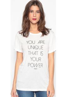 "Camiseta ""You Are""- Branca- Colccicolcci"