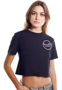 Camiseta Rosa Chá La Malha Preto Feminina (Preto, Pp)