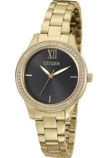 Relógio Analógico Tz28333U- Dourado & Preto- Citizencitizen