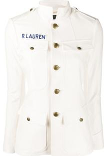 Polo Ralph Lauren Fitted Stand Up Collar Jacket - Branco
