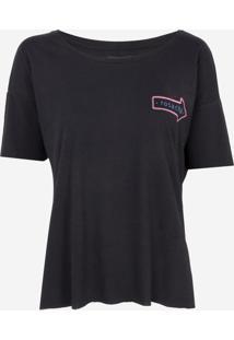 Camiseta Rosa Chá Fifi Malha Preto Feminina (Preto, M)