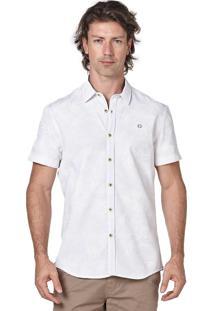 Camisa Manga Curta Convicto Com Estampa Floral Branca