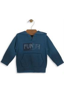 Casaco Infantil Com Capuz Azul