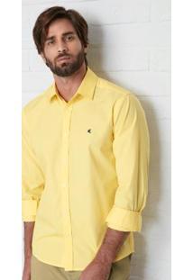 Camisa Amarelo Slim Em Algodão Malwee