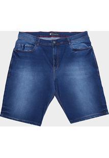 Bermuda Jeans Nicoboco Lisa Masculina - Masculino-Marinho