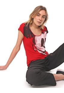 Camiseta Desigual Mickey Vermelha