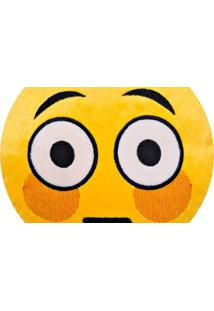 Almofada Capital Do Enxoval Emoji Envergonhado Estampado