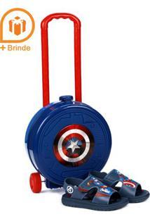 Sandália Avengers Infantil Para Menino - Azul