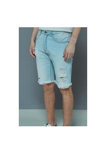 Bermuda John John Buton Jeans Claro